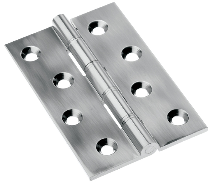 Stockists of Polished Pewter Butt Hinge 76x50mm In Pairs