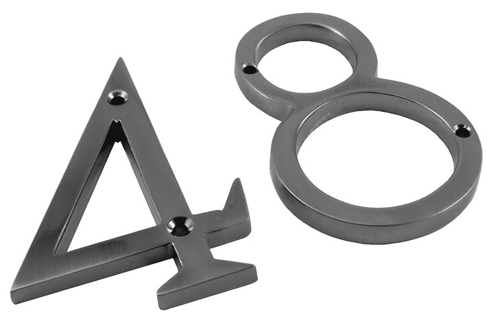 Stockists of Polished Pewter Face Fixing Numerals 76mm