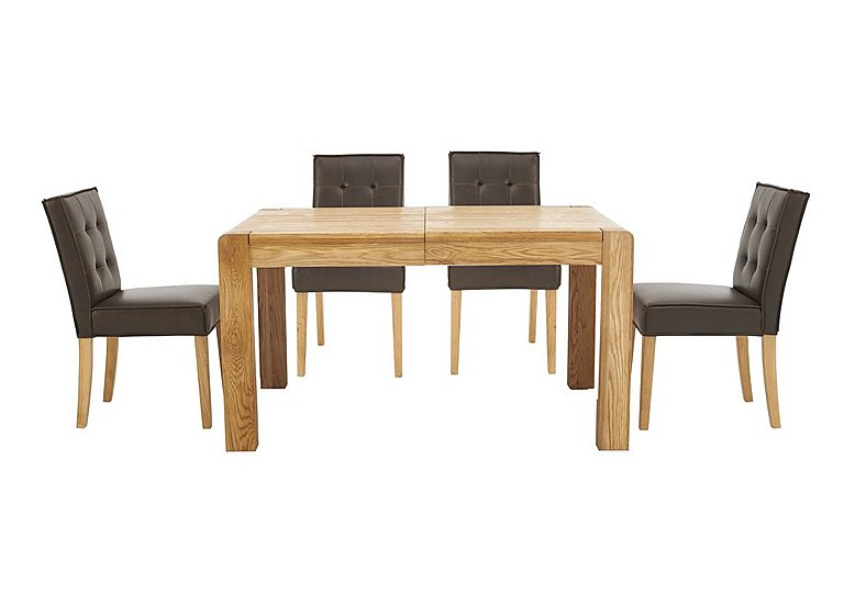 Bargain Portland Extending Dining Table and 4 Buttonback Chairs Stockists