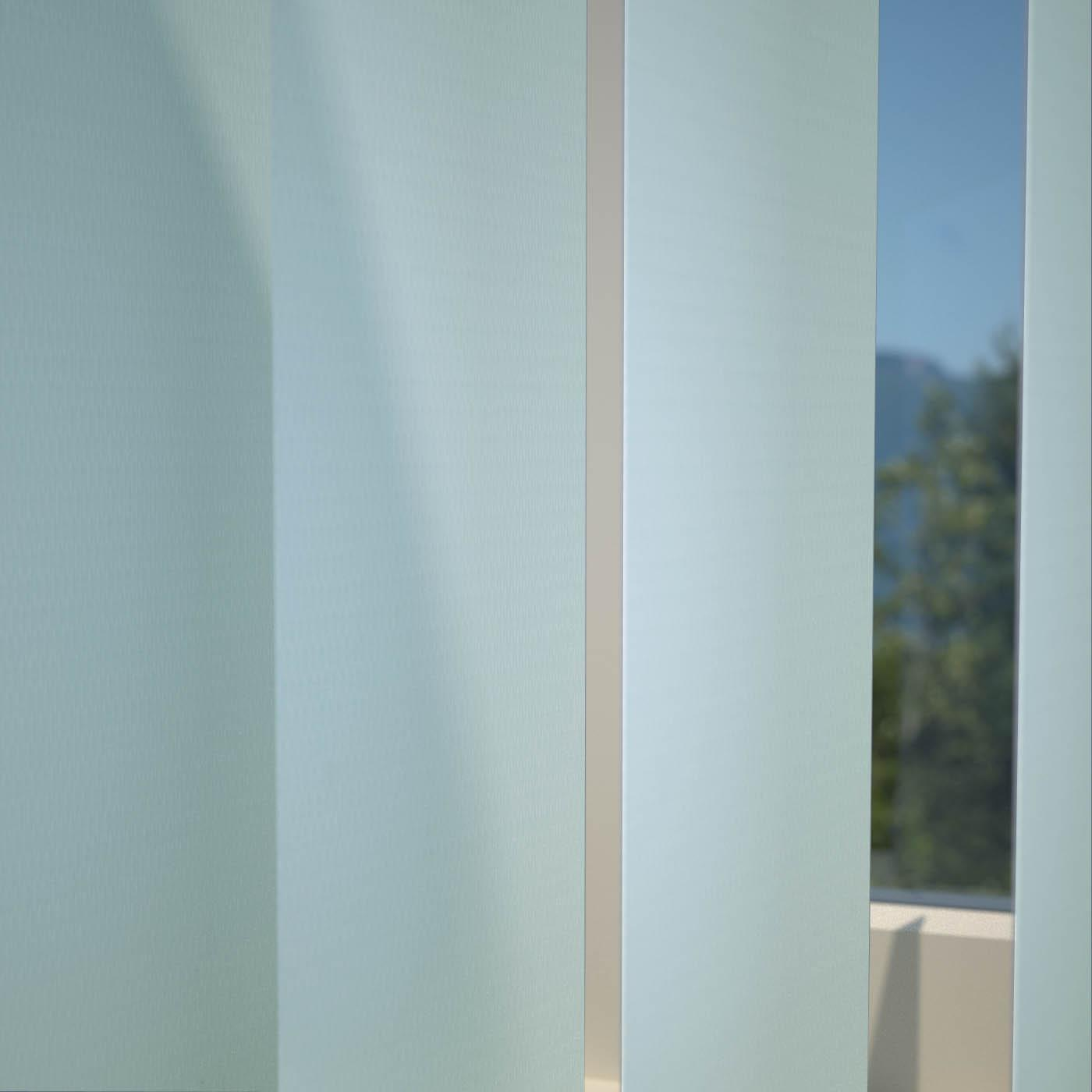 Stockists of Powder Blue Plain PVC Vertical Blind