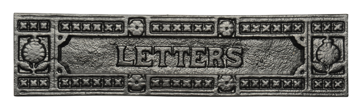 Stockists of Rawnsley Traditional Design Black Letter Box 248mm T540