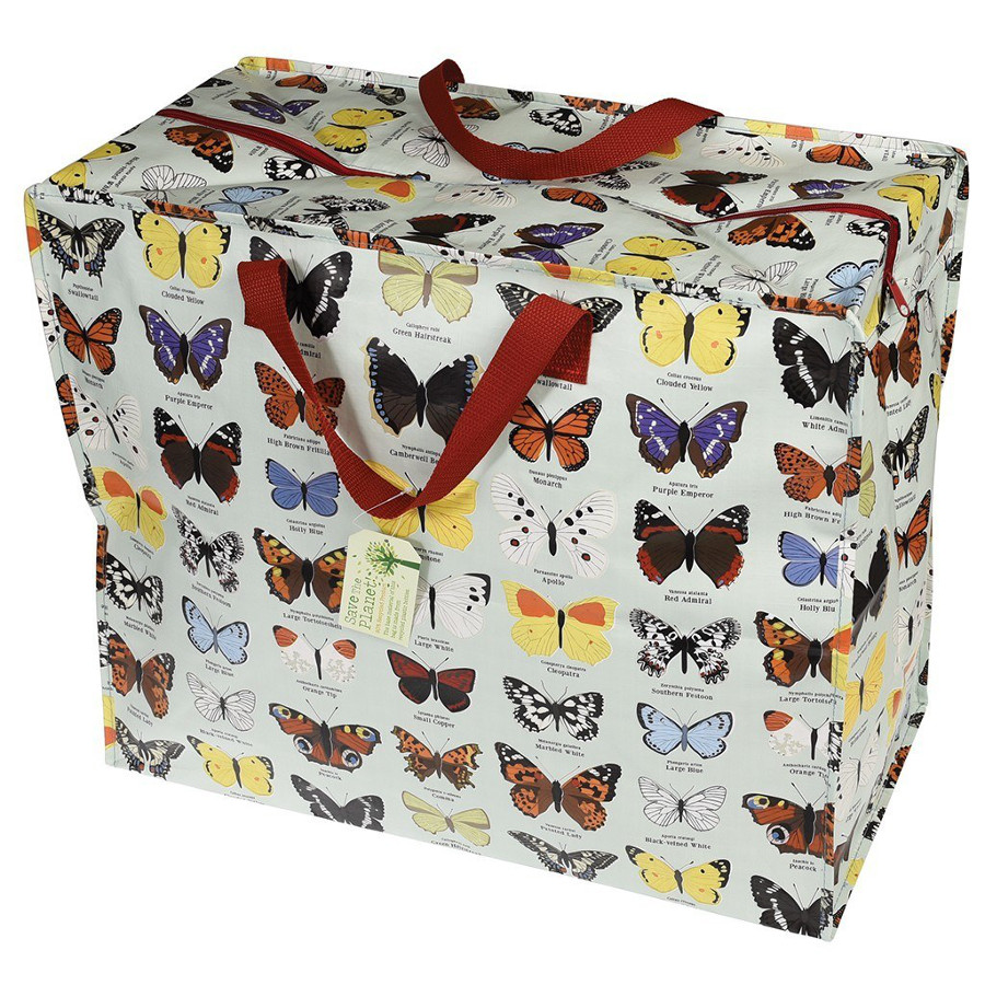 Bargain Recycled Jumbo Storage Bag Butterfly Stockists