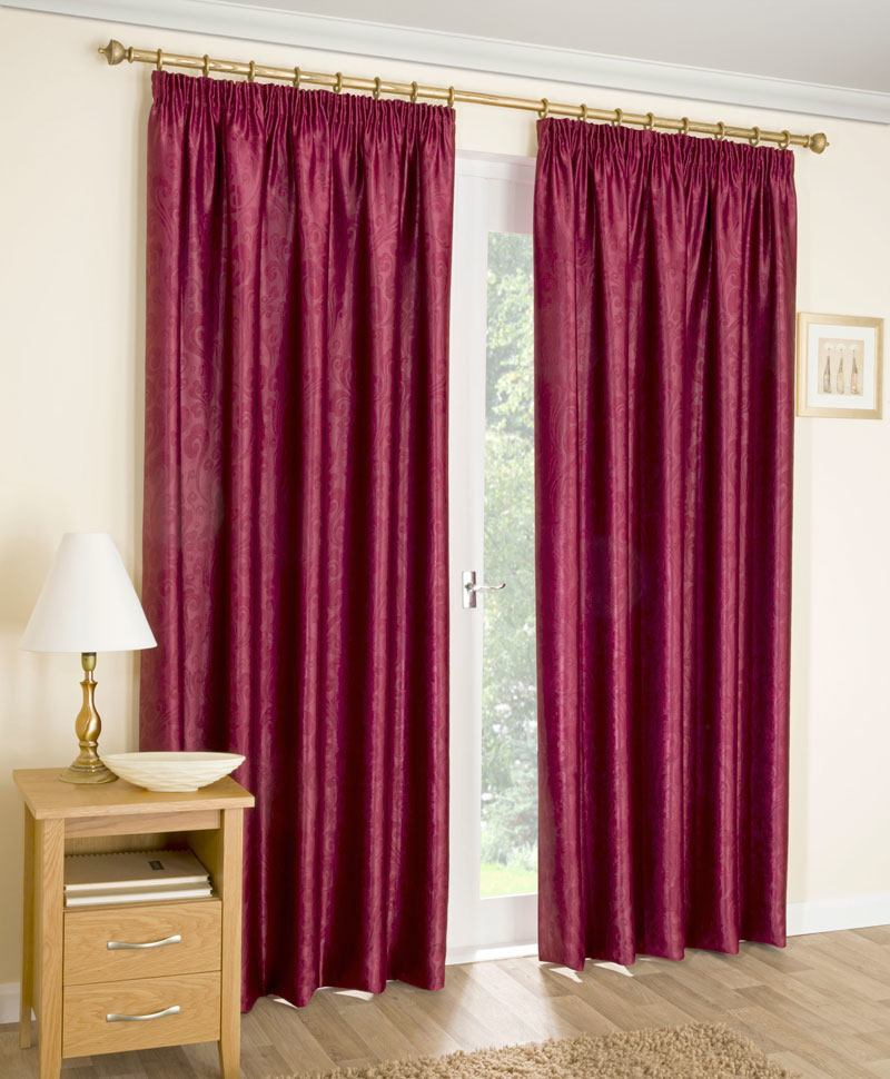 Bargain Red Apollo Ready Made Thermal Dim Out Curtains Stockists
