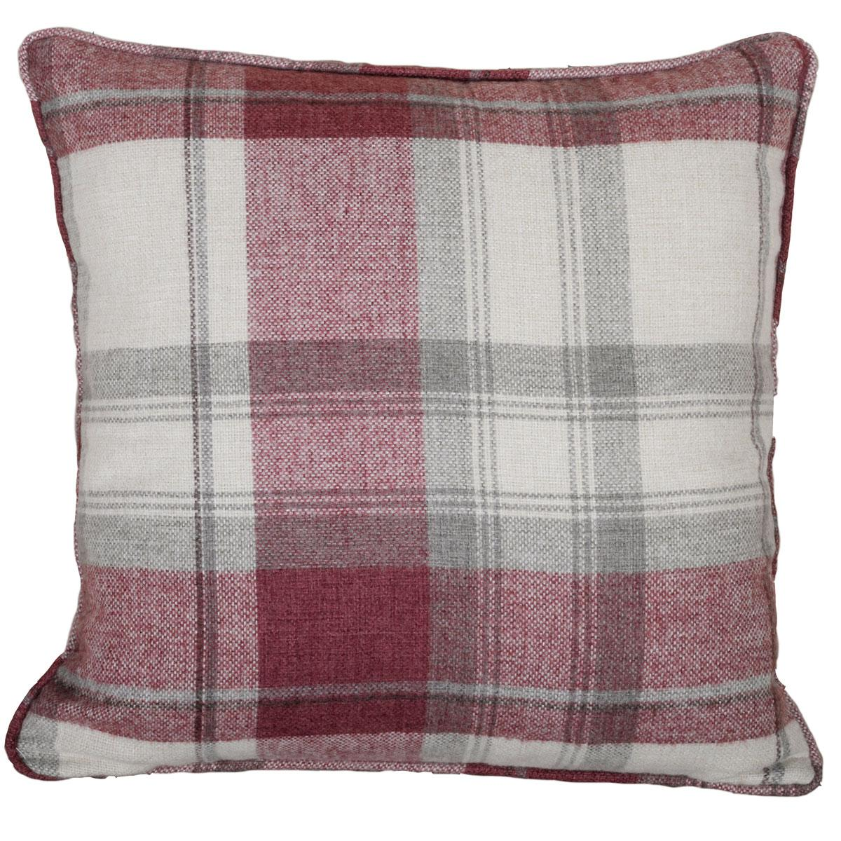 Stockists of Red Belvedere Square Cushion Filled