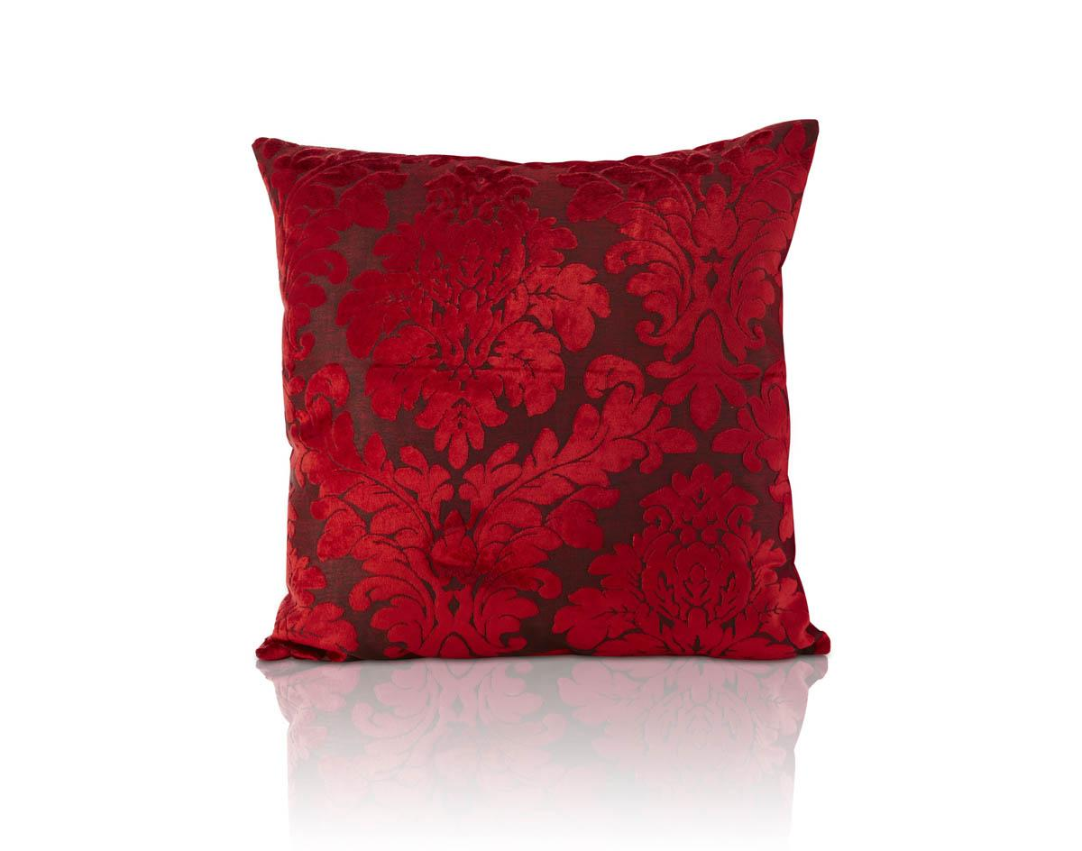 Bargain Red Downton Filled Cushion Stockists