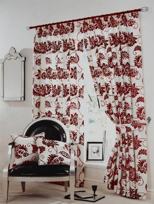 Bargain Red Floral Curtains Damask Stockists