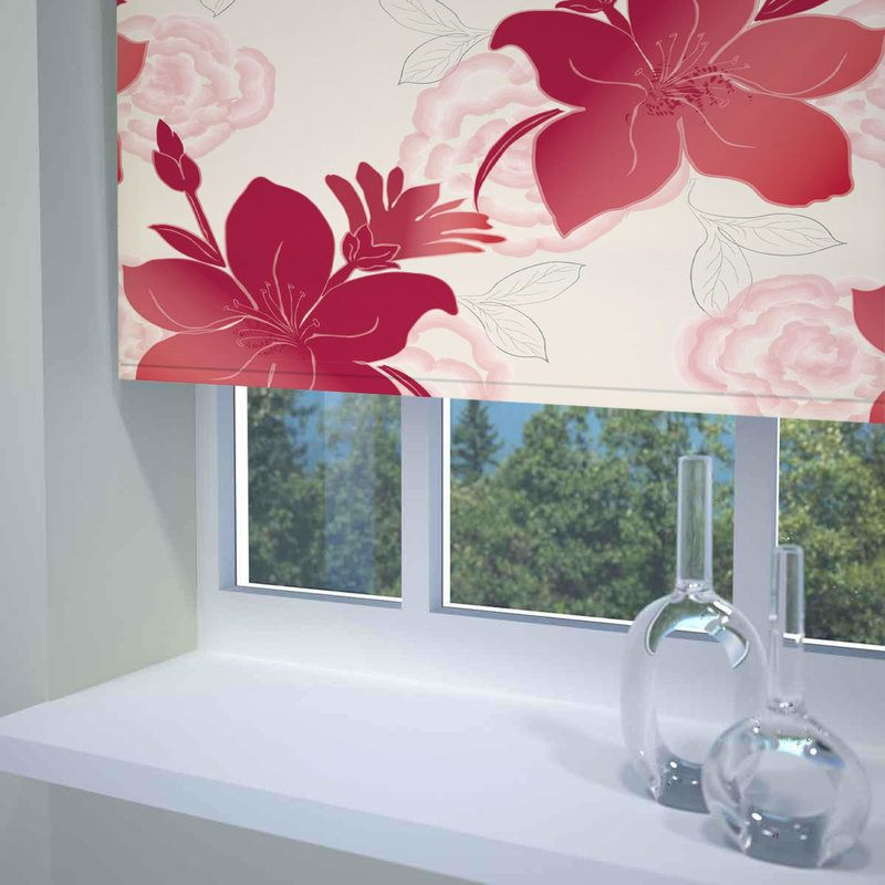 Stockists of Red Lily Ready Made Blackout Roller Blind