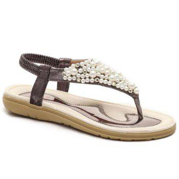 Bargain Retro Beading and Elastic Band Design Women's Sandals Stockists