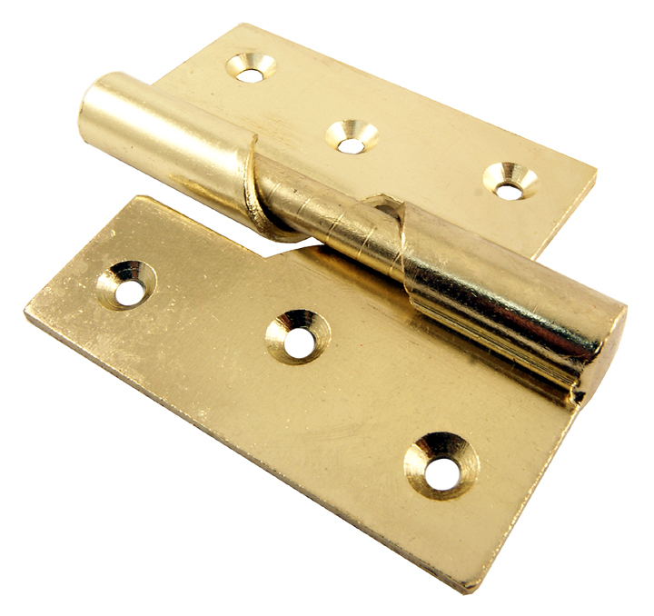 Stockists of Rising Door Hinges Electro Brass Plated Left Hand 76mm In Pairs