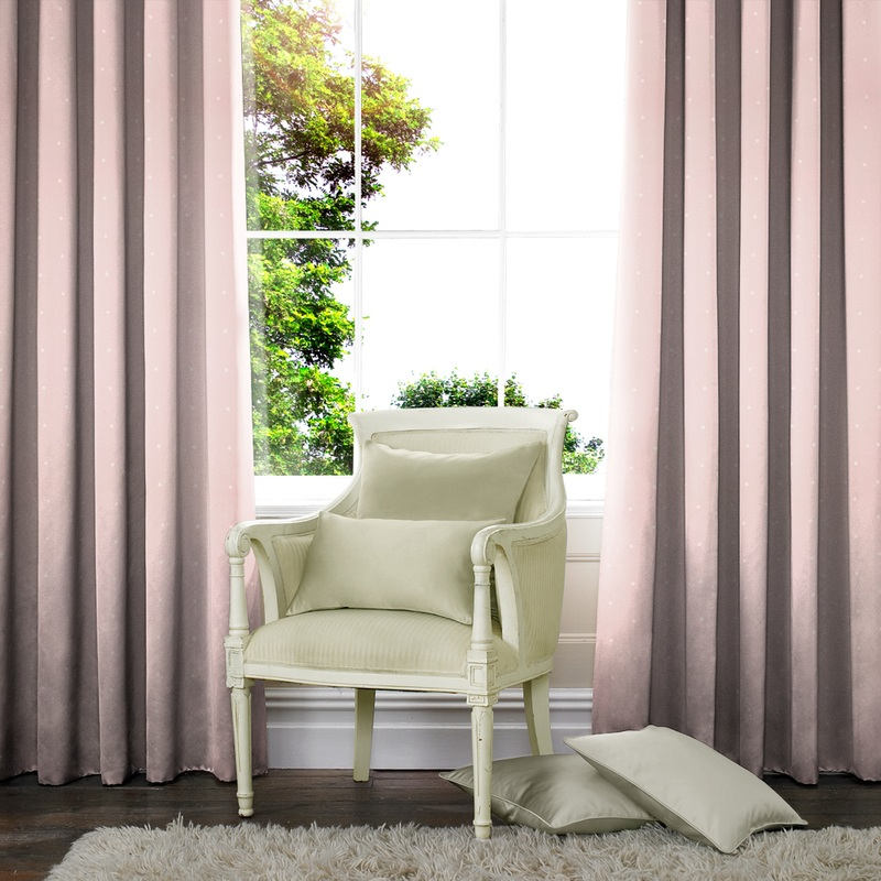 Stockists of Rose Georgia Spot Made to Measure Curtains