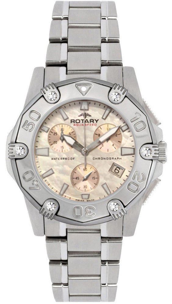 Bargain Rotary Watch Aquaspeed Ladies Steel Bracelet Stockists
