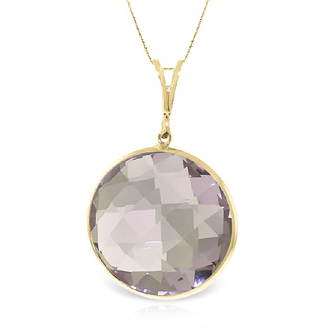 Bargain Round Brilliant Cut Amethyst Pendant Necklace 18.0ctw in 9ct Gold Stockists