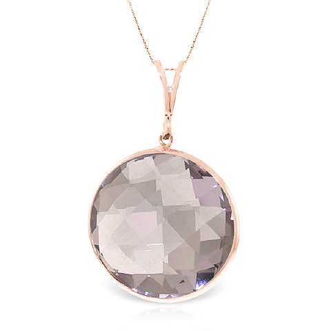 Bargain Round Brilliant Cut Amethyst Pendant Necklace 18.0ctw in 9ct Rose Gold Stockists