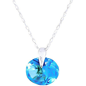 Bargain Round Brilliant Cut Blue Topaz Pendant Necklace 1.0ct in 9ct White Gold Stockists