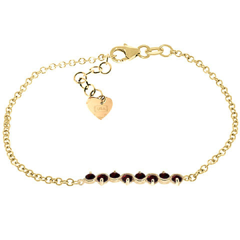 Bargain Round Brilliant Cut Garnet Adjustable Bracelet 1.55ctw in 9ct Gold Stockists