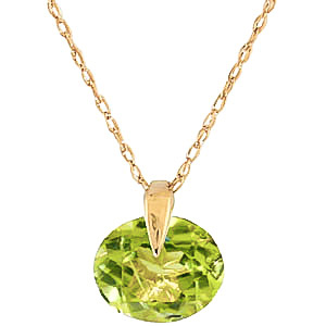 Bargain Round Brilliant Cut Peridot Pendant Necklace 1.0ct in 9ct Gold Stockists