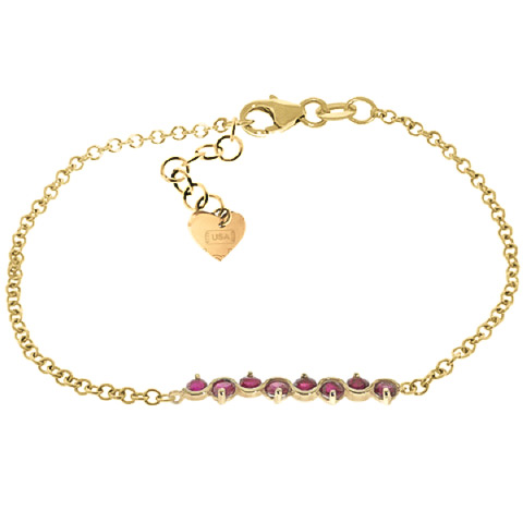 Bargain Round Brilliant Cut Ruby Adjustable Bracelet 1.55ctw in 9ct Gold Stockists
