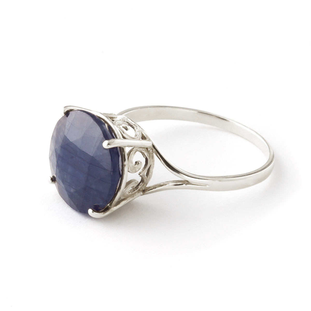 Bargain Round Brilliant Cut Sapphire Ring 9.5ct in 9ct White Gold Stockists