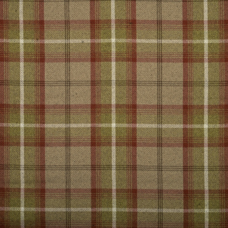 Stockists of Rust Balmoral Curtain Fabric
