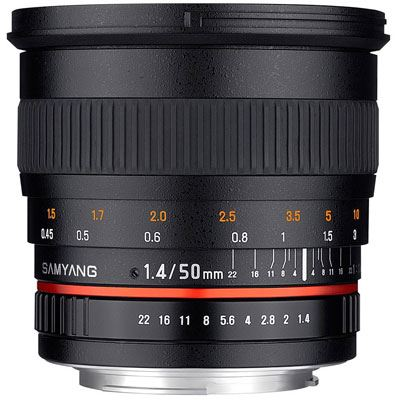 Bargain Samyang 50mm f1.4 AS UMC Lens - Samsung Fit Stockists
