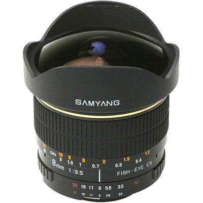 Bargain Samyang 8mm f3.5 Aspherical IF MC Fisheye CS Lens - Nikon AE Fit Stockists