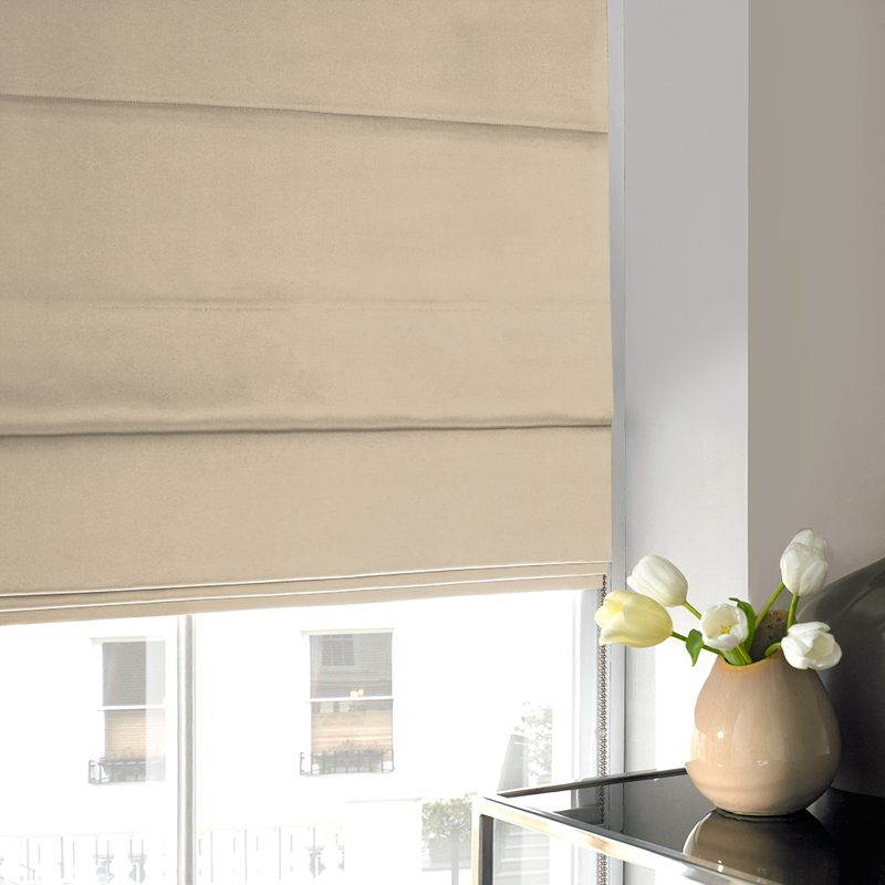 Stockists of Sand Shine Roman Blind