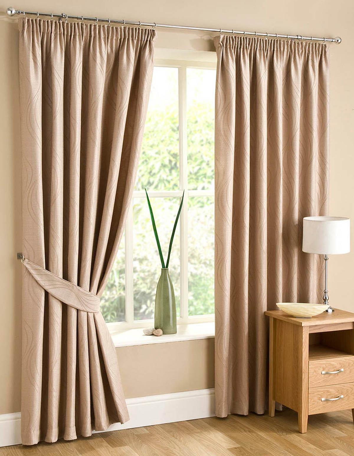 Stockists of Sand Swirl Lined Ready Made Curtains