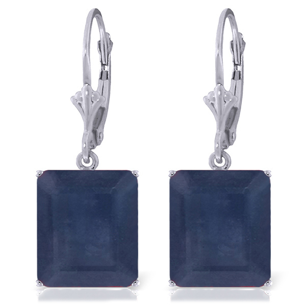 Bargain Sapphire Drop Earrings 14.0ctw in 9ct White Gold Stockists