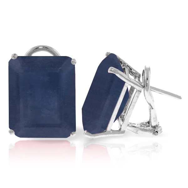 Bargain Sapphire Earrings 14.0ctw in 9ct White Gold Stockists