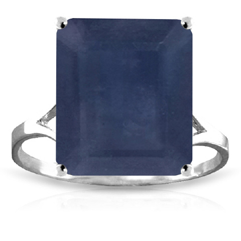 Bargain Sapphire Ring 7.0ct in 9ct White Gold Stockists