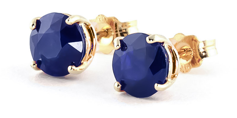 Bargain Sapphire Stud Earrings 3.3ctw in 9ct Gold Stockists