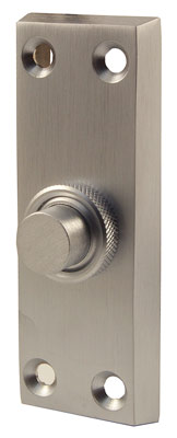 Stockists of Satin Chrome Front Door Bell 80x30mm
