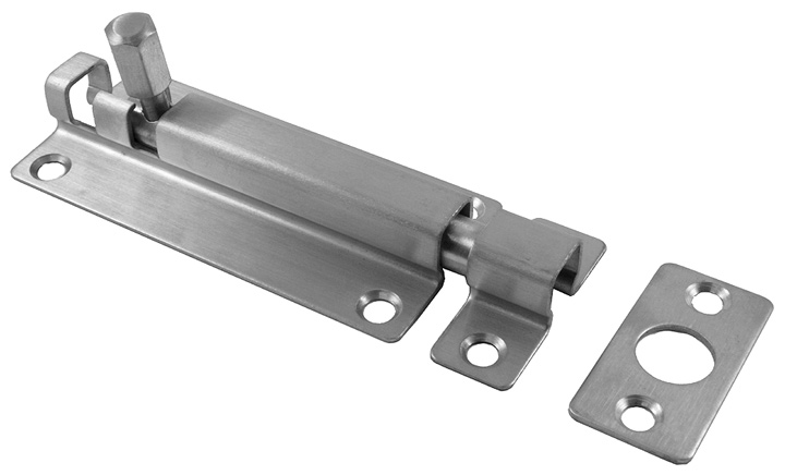 Stockists of Satin Stainless Steel Slide Door Bolt 80x38mm