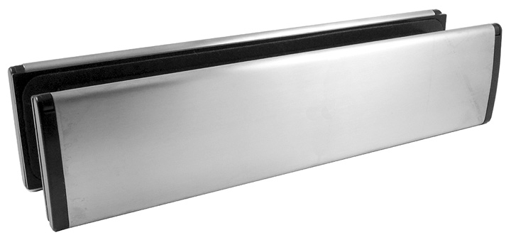 Bargain Satin Stainless Steel Telescopic Letter Box 300x70mm Stockists