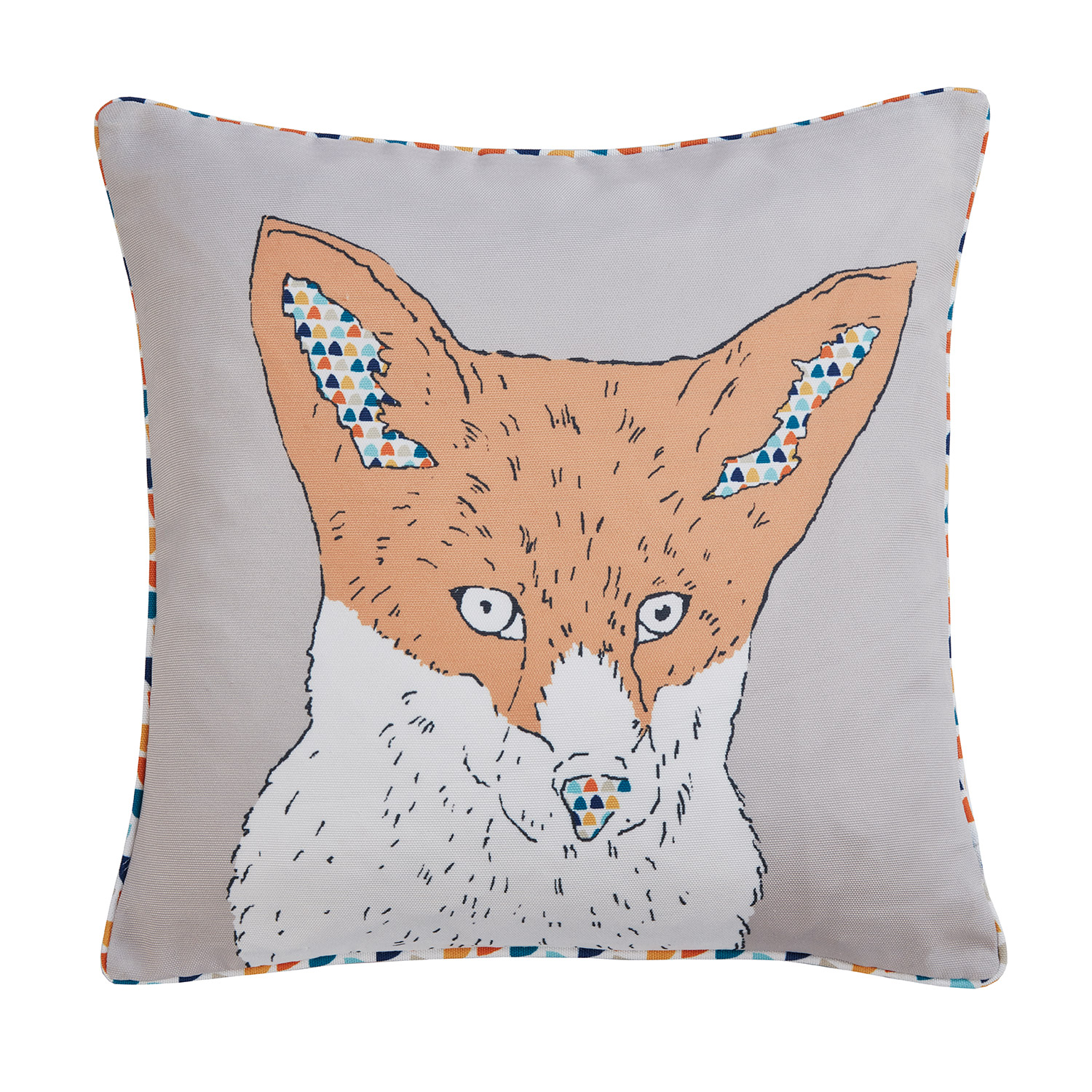 Bargain Scandi-Inspired Fox Digitally Printed & Reversible Luxury Square Filled Cushion Stockists