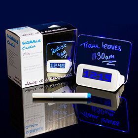Bargain Scribble Writing Alarm Clock Stockists