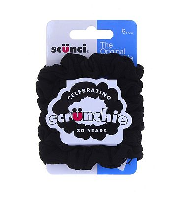 Bargain Scunci Black Soft Grip Srunchies   6 pack Stockists