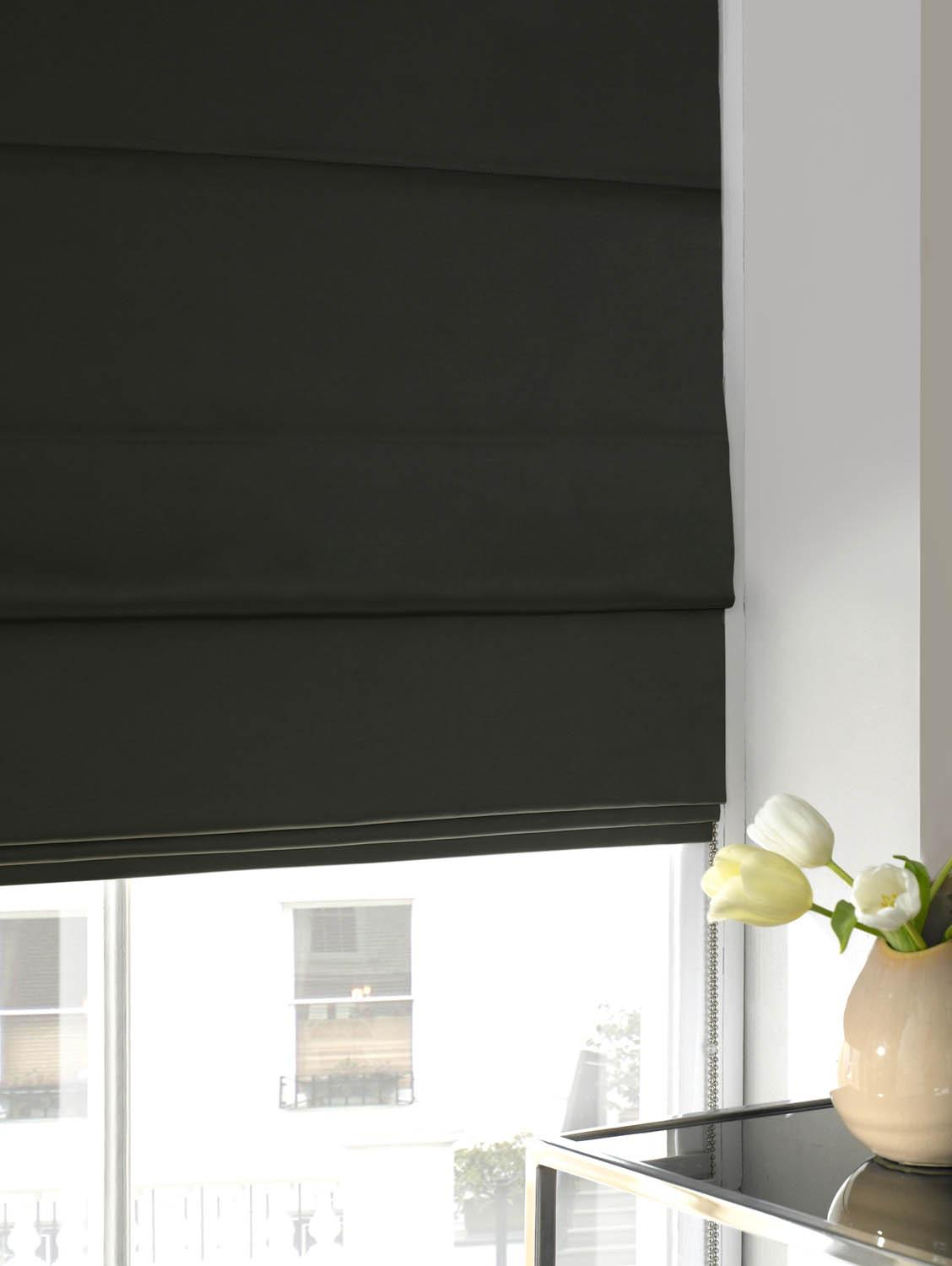 Stockists of Seal Faux Silk Roman Blind