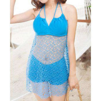 Bargain Sexy Halterneck Openwork Two piece Swimsuit For Women Stockists