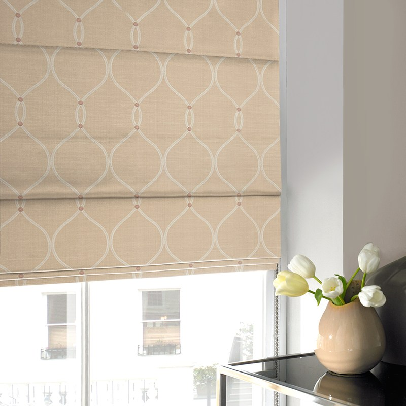 Stockists of Shell Rockland Roman blind