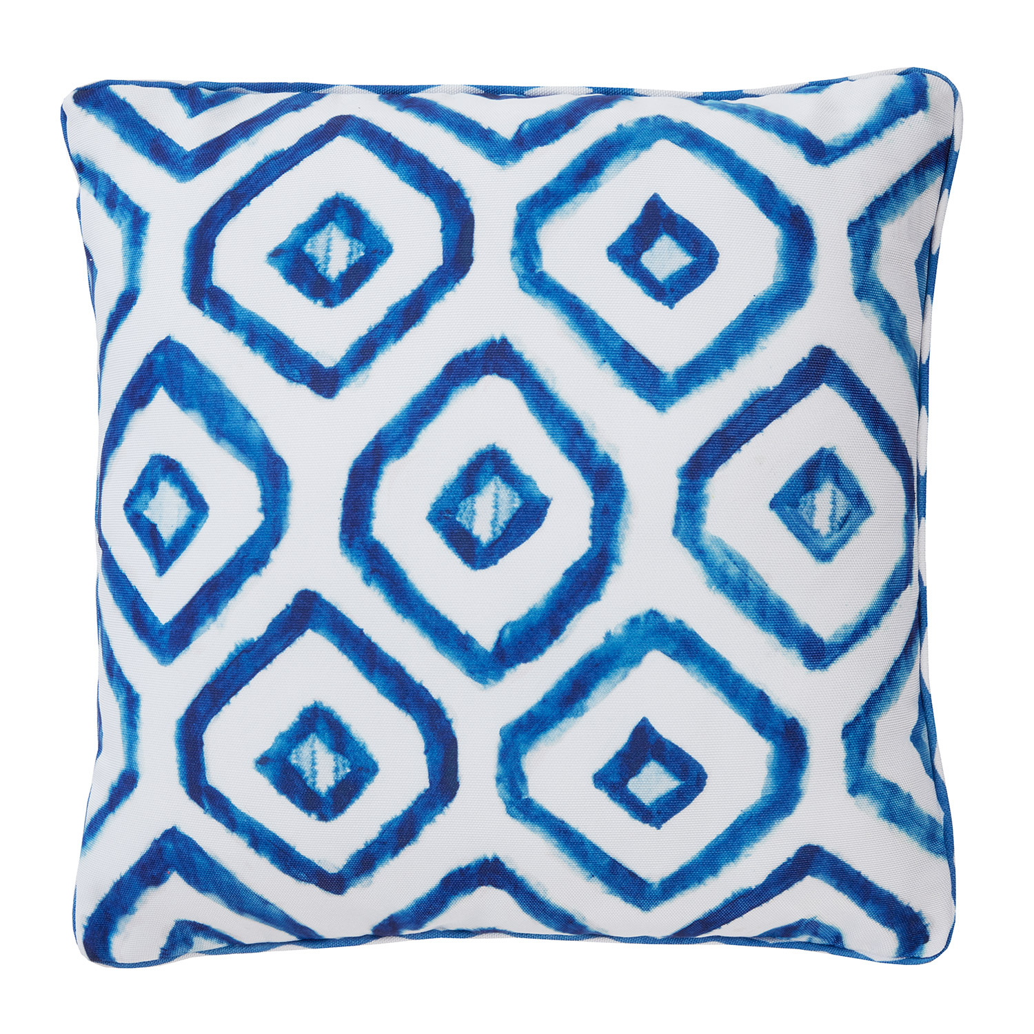 Bargain Shibori Digitally Printed & Reversible Luxury Square Filled Cushion Stockists