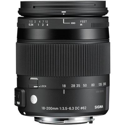 Bargain Sigma 18-200mm f3.5-6.3 DC Macro OS HSM Lens - Canon Fit Stockists