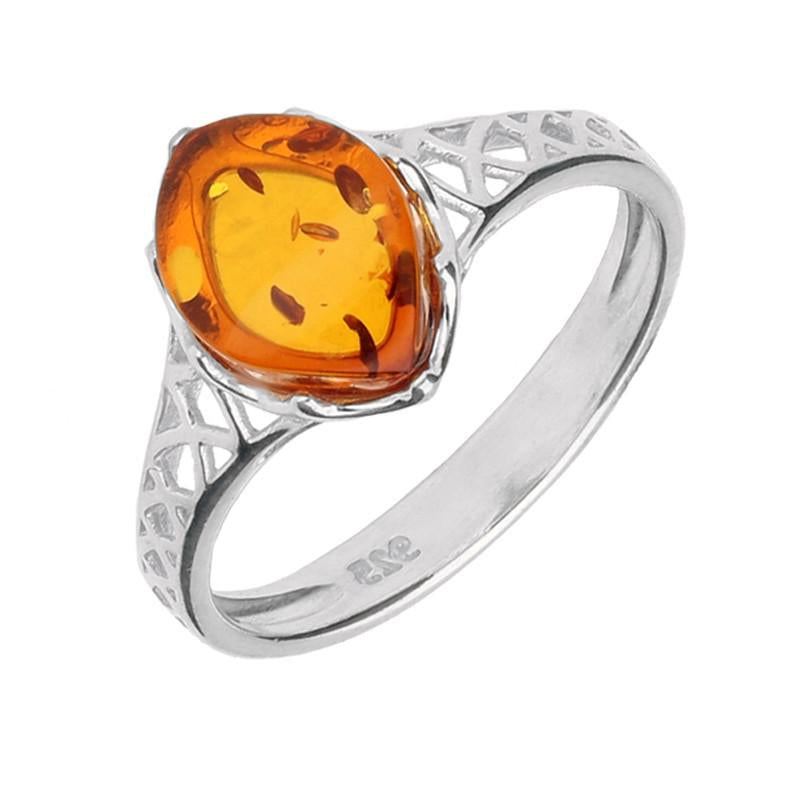 Bargain Silver And Amber Pierced Celtic Ring Stockists