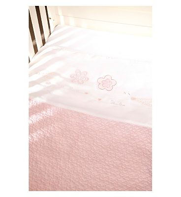 Bargain Silver Cross Luxury Hand Quilted Coverlet - Vintage Pink Stockists