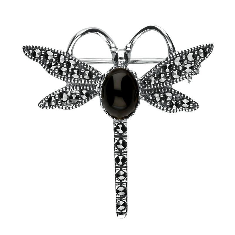 Bargain Silver Whitby Jet Marcasite Dragonfly Brooch Stockists