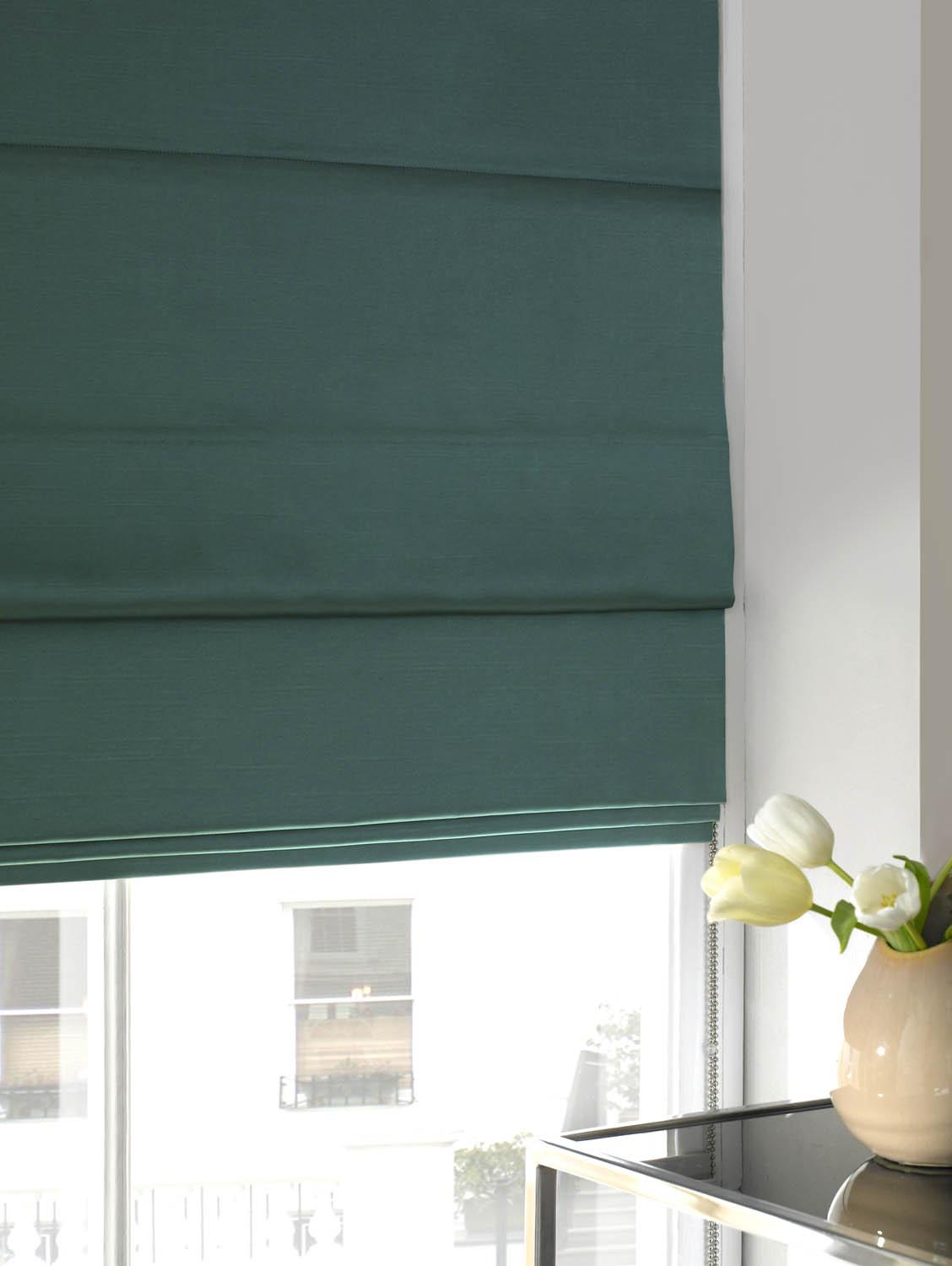 Stockists of Sky Faux Silk Roman Blind