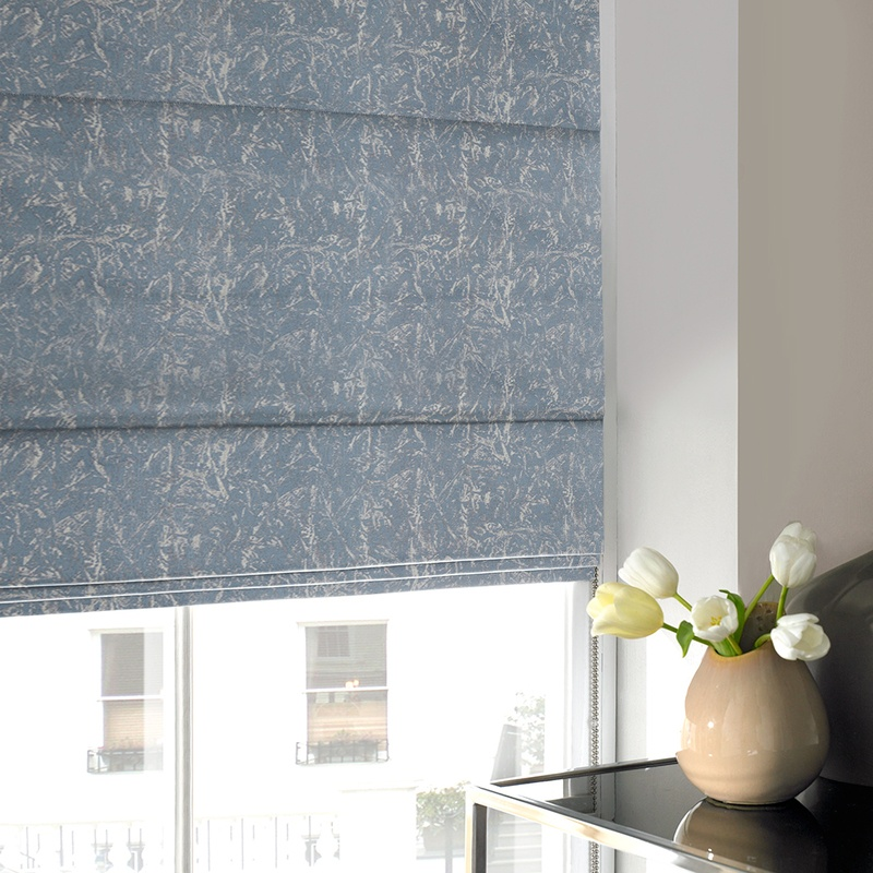Stockists of Sky Waterfall Roman Blind