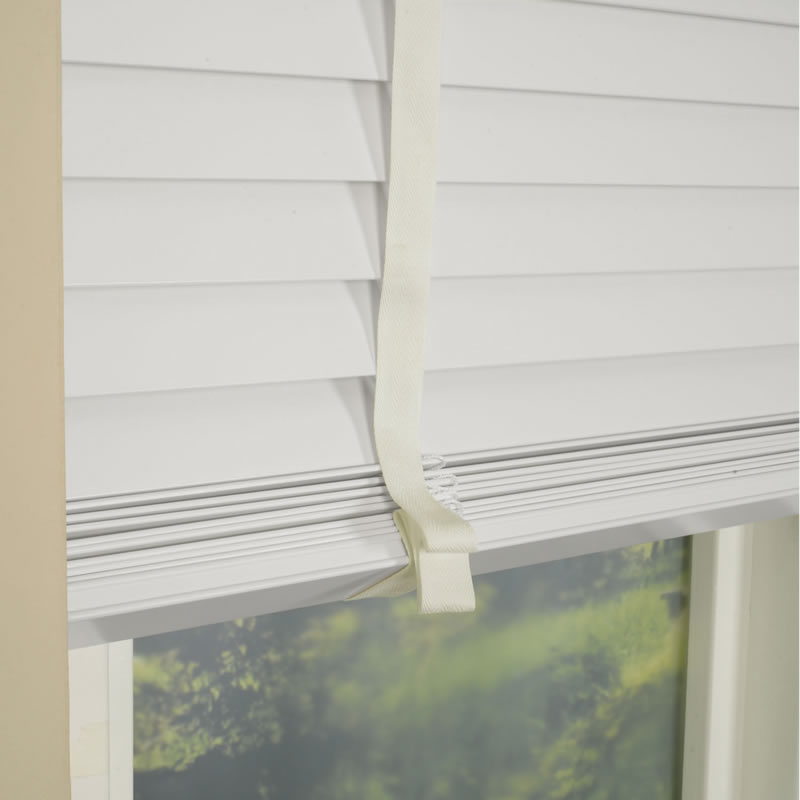 Bargain Snow 50mm Primary Wood Venetian Blinds With Tapes Stockists