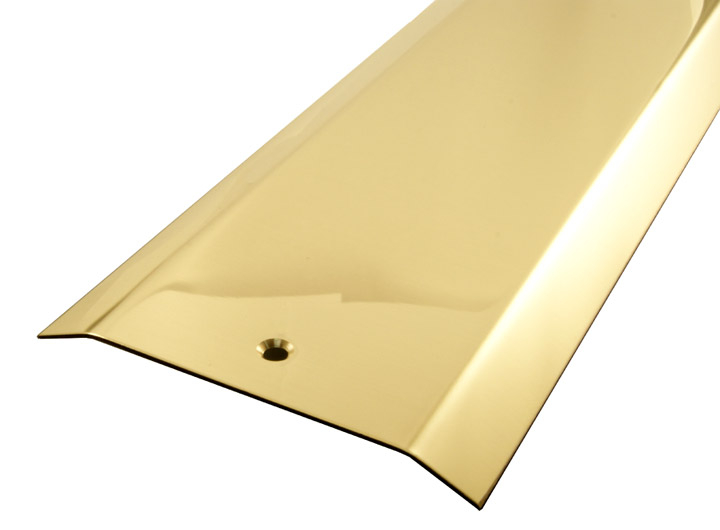 Stockists of Solid Brass Carpet Cover Strip 2 Side Bevel
