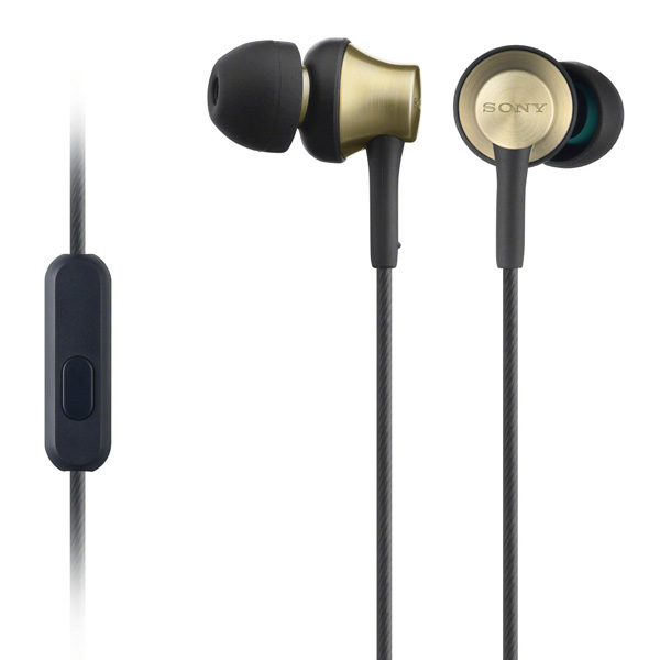 Bargain Sony MDR EX650AP Smartphone Capable In Ear Brass Housing Earphones (Used condition) Stockists